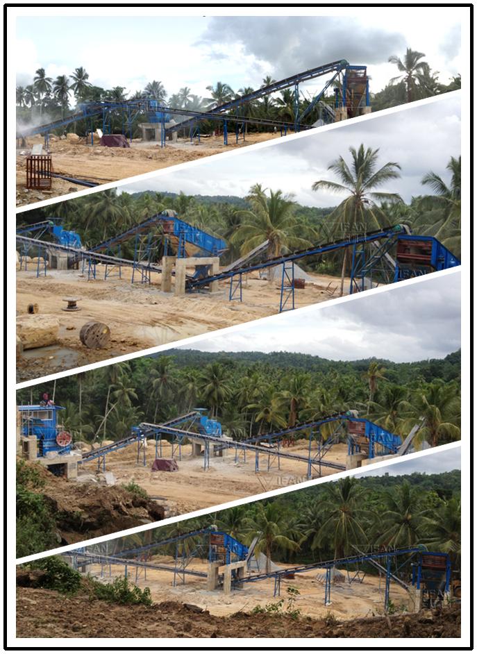 150t/h basalt crushing production line in Sri Lanka