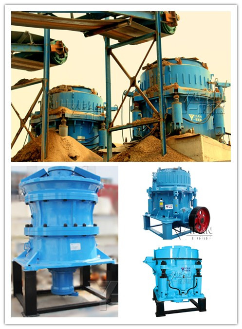 YIFAN Machinery four models cone crusher is aggregate processing production line essential equipment