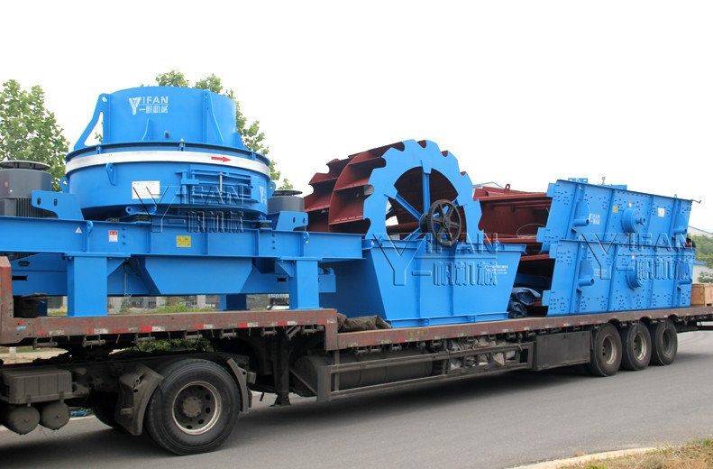 Yifan crushing and screening equipment, sand washing machine exports to the Middle East