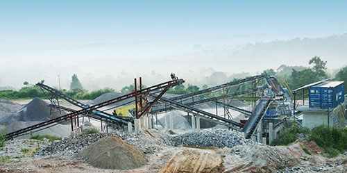 Fixed granite crushing and screening plant in Uganda