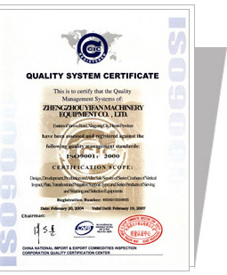 Yifan Machinery Honor and qualification (03)