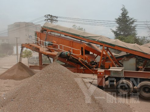 150t/h mobile construction waste recycling equipment in Kunming Yunnan