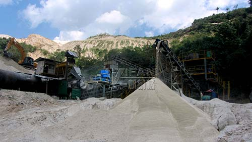 150 tons per hour of sand production line in Malaysia
